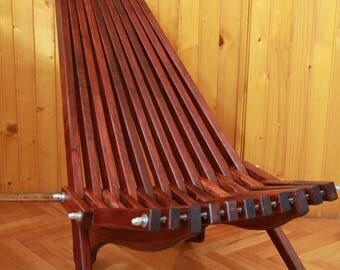 Handmade  Wood Folding Sling Chair
