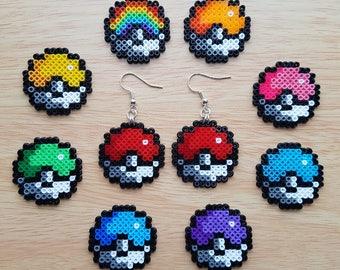 Custom Colour Pokeball Earrings