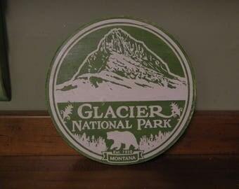 Glacier National Park Wood Sign