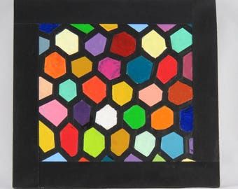"""Mural """"Beautiful coloured"""" with honeycomb-a unique"""