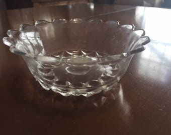 scalloped edge glass bowl