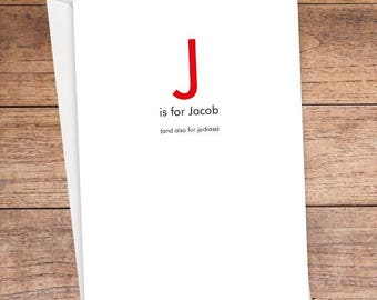 J is For... Card