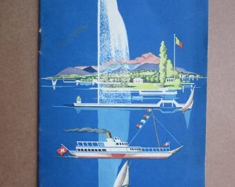 GENF Switzerland Swiss Tourism Guide  from 1930ies