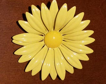 Vintage Sunflower Brooch