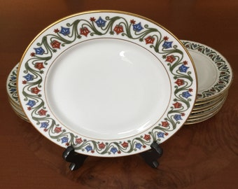 LIMOGES TV Higgins & Seiter Antique Plates 12 ps Set Circa 1891- 1915 Fine China