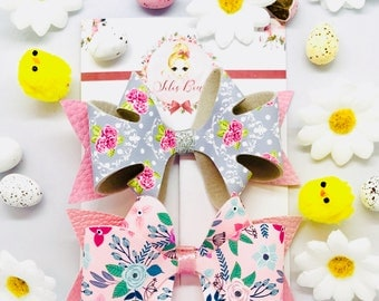 Deluxe Easter hair bow set