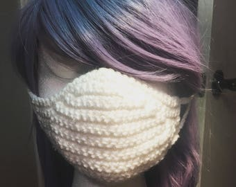 Crochet Face Mask To Protect From Cold Weather and Illness