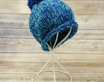 Multi Colored Blue Beanie