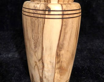 Hand turned wood vase