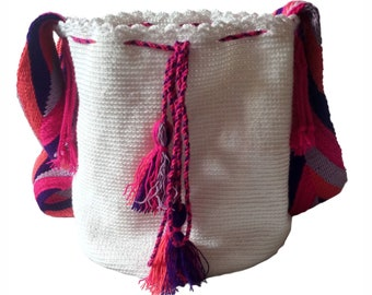 Wayuu Bag-White Wayúu backpack