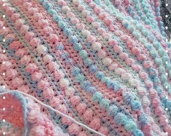 Crochet Bobbly Baby Blanket PDF INSTANT DOWNLOAD