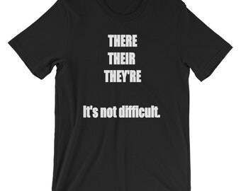 Grammar Police There Their They're Contractions T-shirt Tshirt Funny Sarcastic
