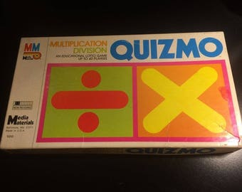 "Milton Bradley Educational Board Game ""Quizmo"" Division/Multiplication 1976"