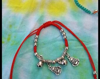 Buddha macrame bracelet