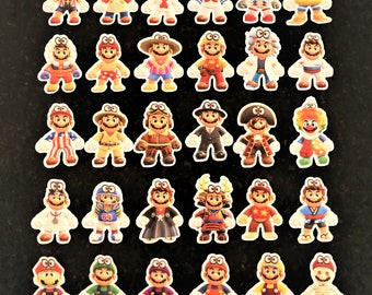 Mario Odyssey Outfit Stickers (42 Stickers)