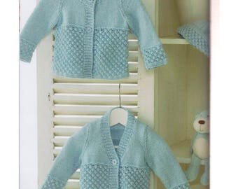 Baby Cardigans and Hat  premie vintage knitting pattern -Immediate download
