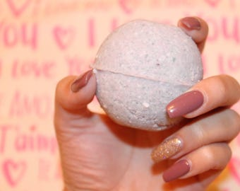 Lavender Valentine's Day Bath Bomb