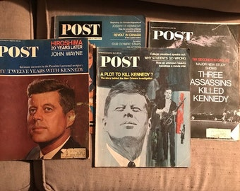 Lot of four Saturday Evening Post Magazines 1964, 1965, 1967