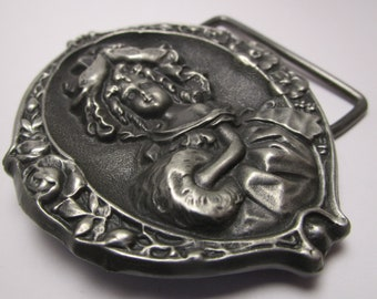 OSIRIS CREATIONS Ladies Belt Buckle featuring Victorian Girl - 1978