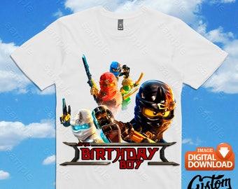 Ninjago Iron On Transfer, Ninjago Birthday Shirt DIY, Ninjago Shirt Design, Ninjago Printable, Ninjago, Personalize, Digital Files