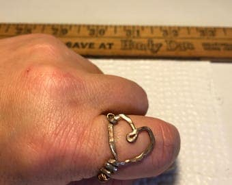 Hand Made Copper Heart Shaped Ring
