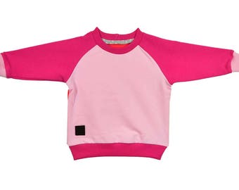 Sweatshirt, cotton, pink, hoodies, sizes 6 months - 5 years, for a girl, for a boy,