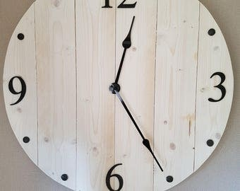 Large wooden Wall Clock.