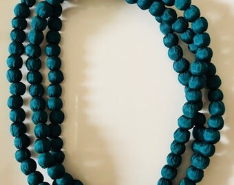 Fabric Balls Necklaces
