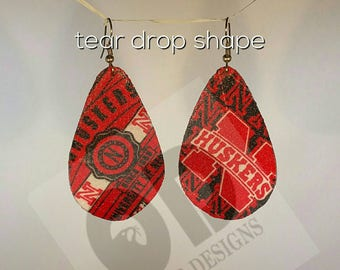 Husker Earrings