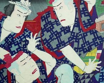 TOYOHARA KUNICHIKA 1886 Ukiyo-e-Japanese authentic original print