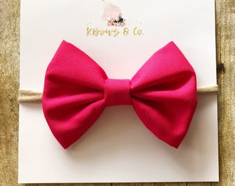 Pink/Red Classic Bow