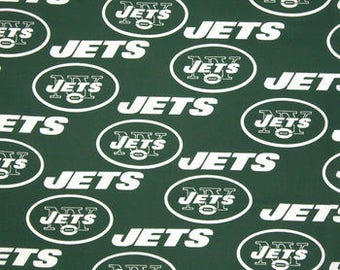 New York Jets Cotton Fabric by the Yard