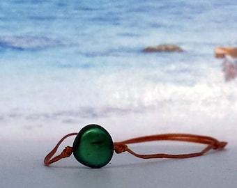 Wax Bracelet-Stone bead