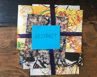5 Upcycled Magazine Envelopes - Abstract