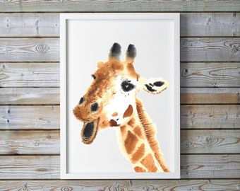 Giraffe surprised