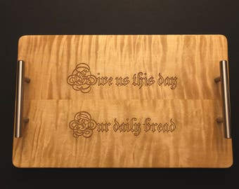 Our Father Wooden Bread Board