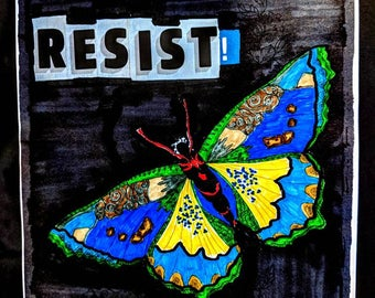 butterfly resist signed prints