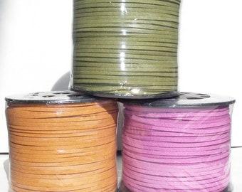 Ultra micro fiber suede lace 3x1.5mm SPOOL 91.4m