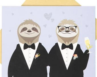 Same Sex Wedding Card - Male