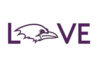Love Ravens Decal