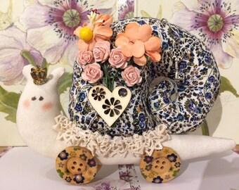 Tilda Snail gift handmade soft toy tilda doll