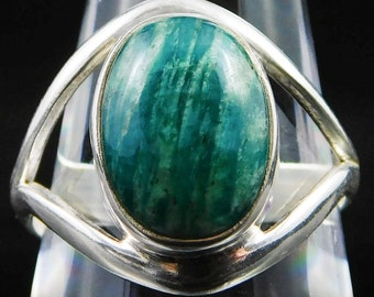 Amazonite Ring, Sterling Silver Size 9.75