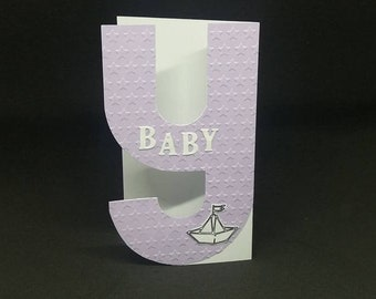 X, Y, Z, monogram card letter card with Name