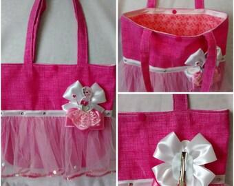 Baby girl Tutu handbag with hair cartoon characters princesses shoulder strap