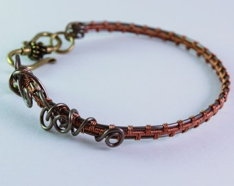 "Wire weaving ""weaves"" bracelet"