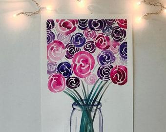 Flower Vase Watercolor 2