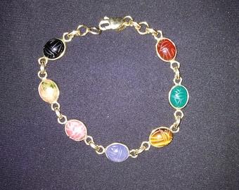 14 kt Scarab Bracelet