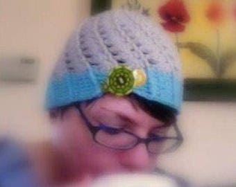 Shell stitch spiral cap