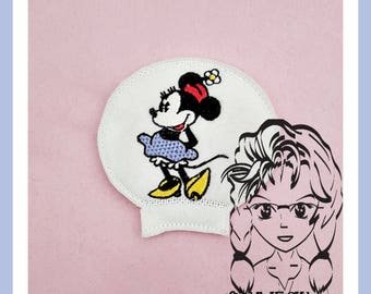 CLASSIC Miss Mouse Ear (Add On ~ 1 Pc) Mr Miss Mouse Ears Headband ~ In the Hoop ~ Downloadable DiGiTaL Machine Embroidery Design by Carrie