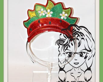 STRaWBERRY PATCH PRiNCESS CRoWN ~ In The Hoop Headband ~ Downloadable DiGiTaL Machine Embroidery Design by Carrie